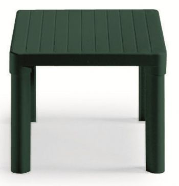 IV Swift Resin Tip Square Garden Coffee Table in Forest Green