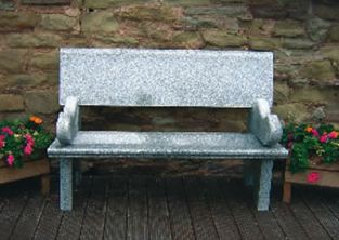 Hayworth Bench - Grey Granite