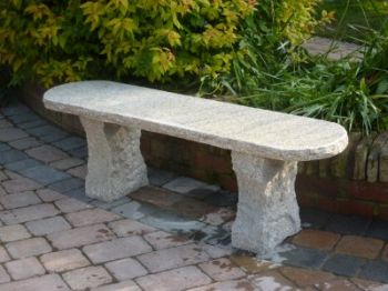 Rustic 1.20m (3ft 11ins) Granite Bench