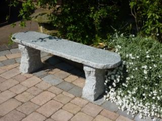 Rustic 1.20m (3ft 11ins) Grey Granite Bench