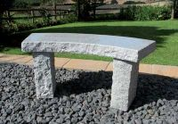 Rustic 1m (3ft 3¼ins) Curved Granite Bench