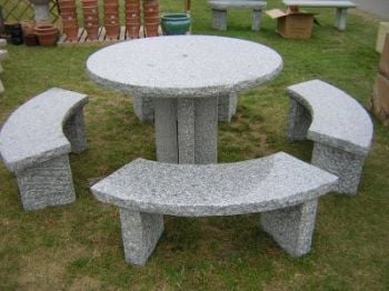 Round 5 Piece Granite Garden Suite