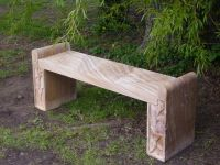 Evesham Rainbow Sandstone Bench with Carved Legs