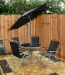Deluxe 4 Seater Garden Furniture Set with Parasol