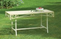 Versailles Steel Coffee Table - Antique Cream