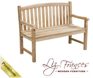 "1.2m ""Chandler""  Grade A Teak Bench by Liz Frances™"
