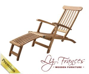 Grade A Teak 1.6m 'Aspen' Steamer/Lounger Chair by Liz Frances™