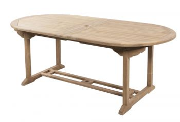 Grade A Teak Extendable Oval 'Pembroke' Table by Liz Frances™ - 2-3m x 1m