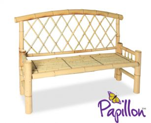 Bamboo 2 Seater Bench W129cm x H93cm