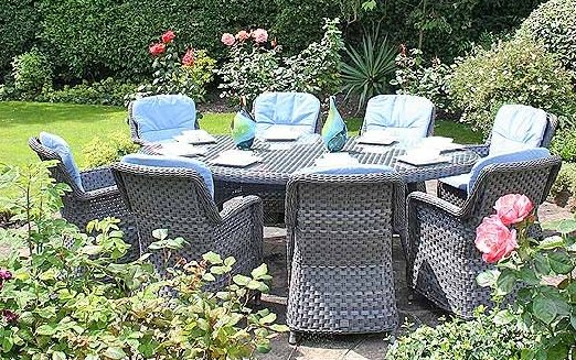Bridgman 230cm Oval Table with 8  Armchairs
