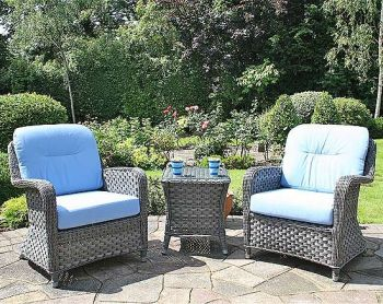 Bridgman 2 Lounge Armchairs and Side Table