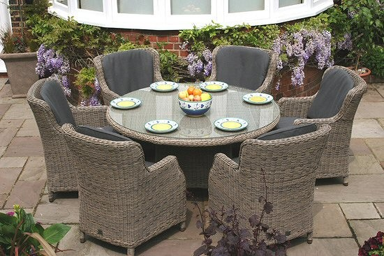 Bridgman 150cm Oval Table with 6 Armchairs