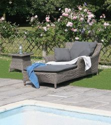Bridgman Single Sunbed with Side Table
