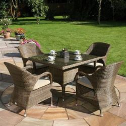 Bridgman 100cm Dining Table with Armchairs
