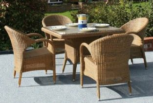 Bridgman 100cm Dining Table with 4 Stackable Chairs