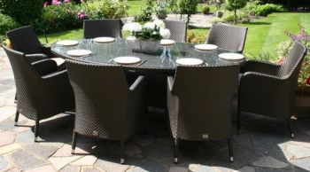 Bridgman 230  Oval Table & 8 Armchairs