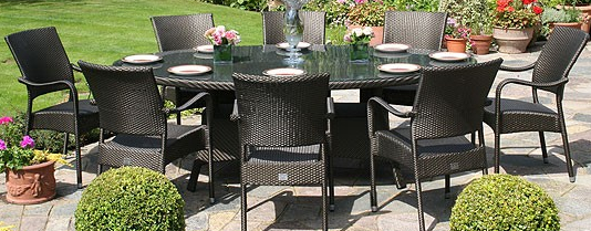 Bridgman 230 Oval Table & 8 Stackable Armchairs