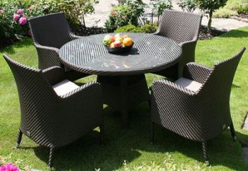 Bridgman 122cm Round Table & 4 Armchairs
