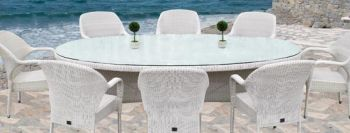 Bridgman 270cm Oval Table & 8 Stackable Armchairs