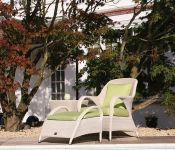 Sussex Lounge Armchair & Footrest - Soft White