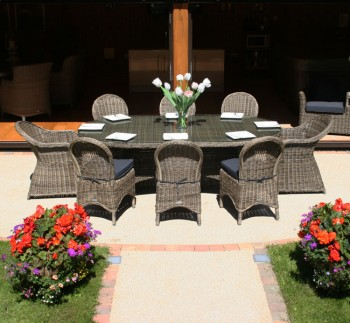 Mayfair Oval Dining Table - 230cm, 2 Mayfair Dining Armchairs & 6 Mayfair Dining Chairs