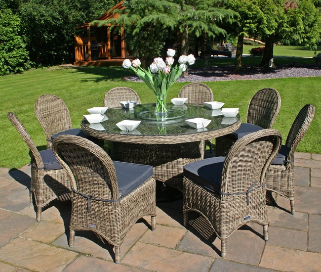 Bridgman 150cm Round Dining Table  with 8 Armchairs