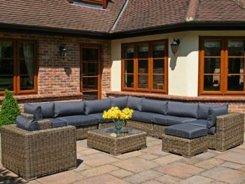 Bridgman 10 Piece Modular Rattan Garden Furniture Set