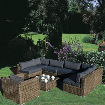 Modular Rattan Garden Furniture Set - 8 Piece