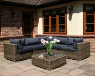 Modular Rattan Garden Furniture Set - 6 Piece