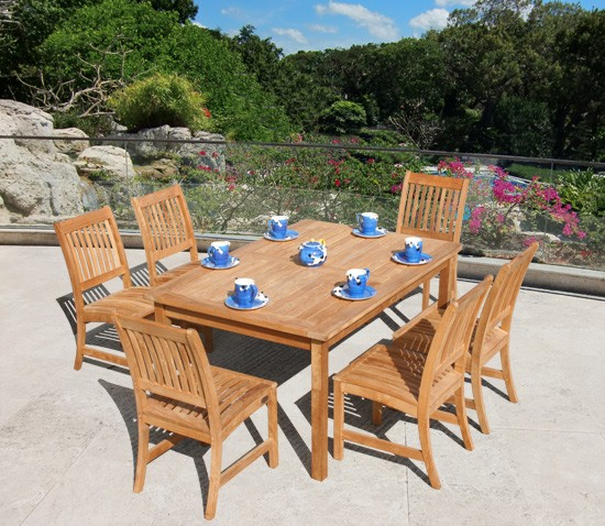 Rectangular Table - 150cm with 6 Club Dining Chairs