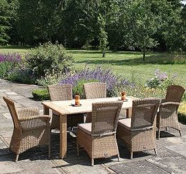 180cm Casa Dining Table & 2 Richmond Armchairs and 4 Dining Chairs