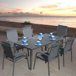 Capri 168cm Rectangular Table & 6 Capri Stacking Armchairs