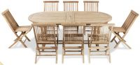 Grade A Teak 8 Seat Oval Extendable 'Pembroke' Set by Liz Frances™