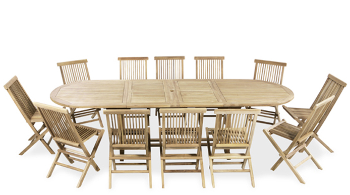 12 seater pembroke teak dining set with oval extendable for 12 seater oval dining table