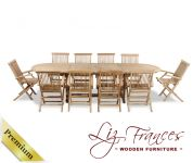 Grade A Teak 10 Seat Oval Extendable 'Lakeland' Set by Liz Frances™