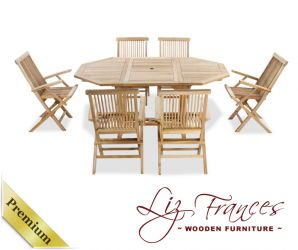 Grade A Teak 6 Seat Octagonal Extendable 'Lakeland' Set by Liz Frances™