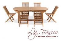 Teak 6 Seat Oval Extendable 'Pembroke' Set by Liz Frances