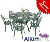 "Alium� ""Garfield"" Cast Aluminium 6 Seater Round Garden Furniture Set"