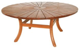 Alexander Rose Cornis Sun Table with Lazy Susan