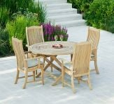 Alexander Rose Roble Bengal Folding Table - 1.3m