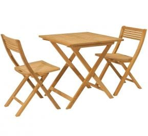 Roble Folding Bistro Set Tea For Two by Alexander Rose