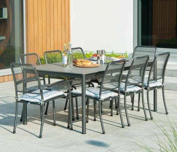 Alexander Rose Portofino Steel Stacking Side Chair