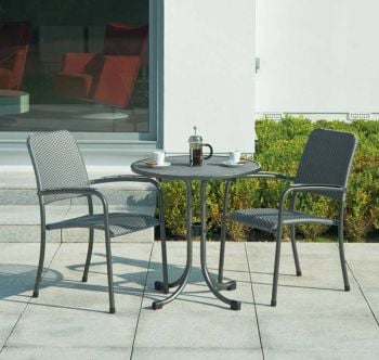 Alexander Rose Portofino Round Steel Bistro Table