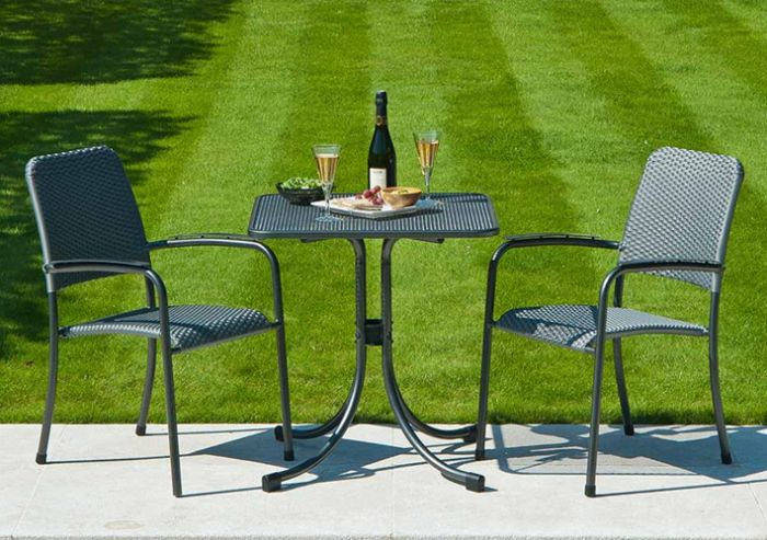 Portofino Bistro Table 0.7x0.7m & Portofino Stacking Chair