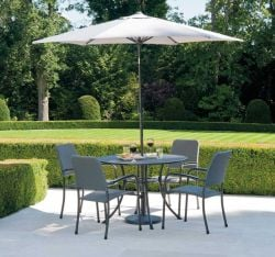 Alexander Rose Portofino Round Steel Table - 1.05m