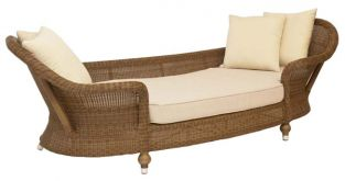 Alexander Rose Colonial Rattan Chaise Lounge
