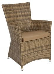 Alexander Rose Chichester Squared Top Armchair with Cushion