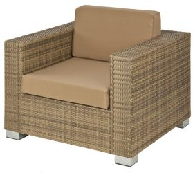 Alexander Rose Chichester Rattan Lounge Chair with Cushion