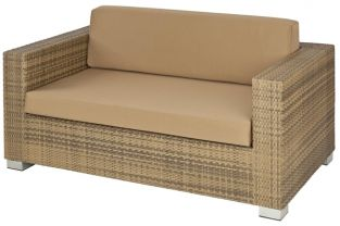 Alexander Rose Chichester Rattan Sofa with Cushion - 2 Seater