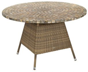 Alexander Rose Chichester Rattan Table with Marble Tabletop - 1.2m